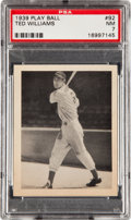 Baseball Cards:Singles (1930-1939), 1939 Play Ball Ted Williams #92 PSA NM 7....