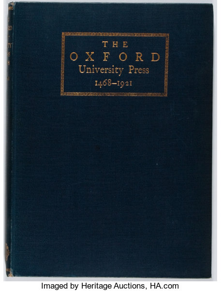 Books About Books]  Some Account of the Oxford University