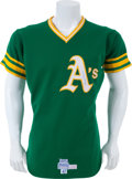 Baseball Collectibles:Uniforms, 1975 Reggie Jackson Game Worn Oakland Athletics Jersey....