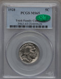 Buffalo Nickels: , 1928 5C MS65 PCGS. CAC. Ex: Teich Family Collection. PCGSPopulation (505/211). NGC Census: (210/56). Mintage: 23,411,000....