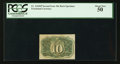 Fractional Currency:Second Issue, Fr. 1244SP 10¢ Second Issue Narrow Margin Back PCGS About New 50.. ...