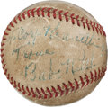 Autographs:Baseballs, 1930's Babe Ruth Single Signed Baseball....
