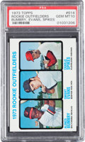 Baseball Cards:Singles (1970-Now), 1973 Topps Evans Rookie #614 PSA Gem Mint 10 -Pop Eight. ...