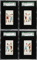 "Boxing Cards:General, 1924 Franklyn Cigarettes ""Boxing"" SGC-Graded Complete Set (25). ..."