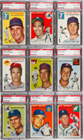 Baseball Cards:Lots, 1954 Topps Baseball PSA NM-MT 8 Collection (45). ...
