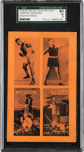 Boxing Cards:General, 1929 Exhibits 4-on-1 Dempsey/Groh/Harris/Kansas SGC 40 VG 3....