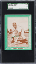 Baseball Cards:Singles (1950-1959), 1958 Bell Brand Potato Chips Sandy Koufax SGC 84 NM 7 - Pop Two,Two Higher. ...