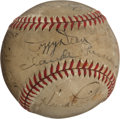 Autographs:Baseballs, 1940 Chicago Cubs Partial Team Signed Baseball...