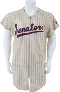 Baseball Collectibles:Uniforms, 1959 Harmon Killebrew Game Worn Washington Senators Rookie Jerseywith Photo Match....