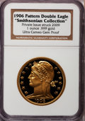 """Patterns, """"1906 Pattern Double Eagle"""" One-Ounce .999 Gold, Ultra Cameo Gem Proof NGC. """"Smithsonian Collection."""" Private issue struck 2..."""