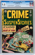 Golden Age (1938-1955):Horror, Crime SuspenStories #4 Gaines File pedigree 3/11 (EC, 1951) CGCNM/MT 9.8 Off-white to white pages....