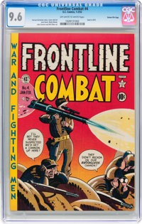 Frontline Combat #4 Gaines File pedigree 2/10 (EC, 1952) CGC NM+ 9.6 Off-white to white pages