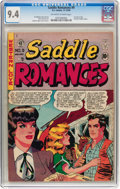 Golden Age (1938-1955):Romance, Saddle Romances #9 (EC, 1949) CGC NM 9.4 Off-white to whitepages....