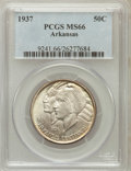 Commemorative Silver: , 1937 50C Arkansas MS66 PCGS. PCGS Population (98/5). NGC Census:(50/3). Mintage: 5,505. Numismedia Wsl. Price for problem ...
