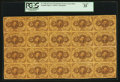 Fr. 1230 5¢ First Issue Full Sheet of Twenty PCGS Very Fine 35