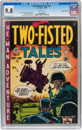 Golden Age (1938-1955):War, Two-Fisted Tales #21 Gaines File pedigree 4/10 (EC, 1951) CGC NM/MT 9.8 White pages....