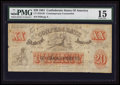 Confederate Notes:1864 Issues, XXI/B1 $20 Female Riding Deer Bogus Note.. ...