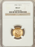Liberty Quarter Eagles: , 1902 $2 1/2 MS67 NGC. NGC Census: (61/6). PCGS Population (34/0).Mintage: 133,500. Numismedia Wsl. Price for problem free ...
