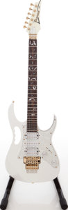 Musical Instruments:Electric Guitars, 1990s Ibanez JEM Steve Vai Copy White Solid Body Electric Guitar....