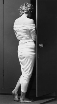 PHILIPPE HALSMAN (American, 1906-1979) Marilyn at the Door, 1952 Gelatin silver, 1981 13 x 7-1/4