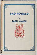 Books:Science Fiction & Fantasy, Jack Vance. SIGNED/LIMITED. Bad Ronald. Underwood-Miller, 1982. First hardcover edition. Limited to 200 number...