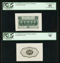 Fractional Currency:First Issue, Fr. 1313SP 50¢ First Issue Wide Margin Pair PCGS Gem New 66 andApparent Very Choice New 64.. ... (Total: 2 notes)