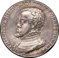 Betts Medals, Betts-1. 1556 Philip II, King of the New World. Silver, cast,chased. VF+. ...