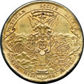 Betts Medals, Betts-37. 1637 Artischofski Captures Fort Larrayal, Brazil. Brass,cast, once gilt. VF....