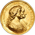 Betts Medals, Betts-44. 1670 British Colonization. Gold. VF....