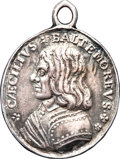 Betts Medals, Betts-35. 1643-1644 Cecil Calvert Maryland Map Medal. ExtremelyFine....
