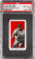 "Baseball Cards:Singles (Pre-1930), 1910 E98 ""Set of 30"" Honus Wagner, Red PSA NM-MT+ 8.5 - Black SwampFind. ..."