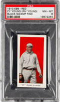 "Baseball Cards:Singles (Pre-1930), 1910 E98 ""Set of 30"" Cy Young, Red PSA NM-MT 8 - Black Swamp Find...."