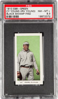 "Baseball Cards:Singles (Pre-1930), 1910 E98 ""Set of 30"" Cy Young, Green PSA NM-MT+ 8.5 - Black SwampFind. ..."