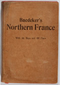 Books:Travels & Voyages, Karl Baedeker. Northern France. Baedeker, 1909. Fifth edition. English text. Stiff cloth wrappers. Illustrations...