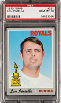 Baseball Cards:Singles (1970-Now), 1970 Topps Lou Piniella #321 PSA Gem Mint 10....