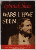 Books:Biography & Memoir, Gertrude Stein. Wars I Have Seen. Random House, 1945. Firstedition, first printing. Light rubbing to cloth. Toning ...