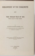Books:Americana & American History, Lafayette Houghton Bunnell. Discovery of the Yosemite and theIndian War of 1851. Gerlicher, 1911. Fourth edition. M...
