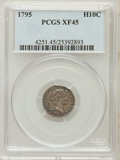 Early Half Dimes: , 1795 H10C XF45 PCGS. PCGS Population (34/253). NGC Census:(16/250). Mintage: 78,600. Numismedia Wsl. Price for problem fre...