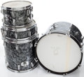 Musical Instruments:Drums & Percussion, 1960s Rogers Black Pearl 4-Piece Drum Set....