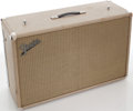 Musical Instruments:Amplifiers, PA, & Effects, Early 1960s Fender Blonde Speaker Cabinet....