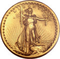 High Relief Double Eagles, 1907 $20 High Relief, Flat Rim MS62+ PCGS Secure....