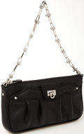 Luxury Accessories:Bags, Heritage Vintage: Salvatore Ferragamo Black Leather Pochette Bagwith Silver Hardware. ...
