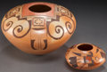 American Indian Art:Pottery, TWO HOPI POLYCHROME SEED JARS. Elva Nampeyo and R. S. Nampeyo. c.1970 - 1990... (Total: 2 Items)