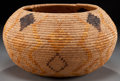 American Indian Art:Baskets, A MISSION POLYCHROME COILED BOWL. c. 1920...