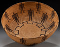 American Indian Art:Baskets, A PANAMINT PICTORIAL COILED BOWL. c. 1900...