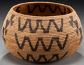 American Indian Art:Baskets, A WASHO COILED BOWL . c. 1900...