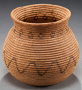 American Indian Art:Baskets, A CHEMEHUEVI COILED JAR. c. 1900...