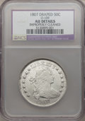 Early Half Dollars, 1807 50C Draped Bust -- Improperly Cleaned -- NCS. AU Details.O-109, R.3....