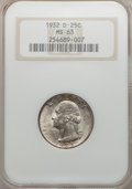 Washington Quarters, 1932-D 25C MS63 NGC....