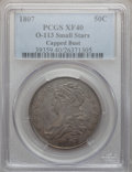 Bust Half Dollars, 1807 50C Capped Bust, Small Stars XF40 PCGS. O-113, R.2....